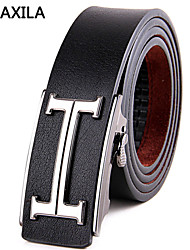 Men Calfskin Waist Belt , Party/Work/Casual  first layer cowhide automatic buckle business casual fashion trend