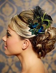 Hand Made Wedding Feather Hair Clip Fascinator Headpieces Fascinators 045