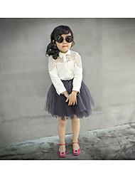 Kid's Dress , Cotton Blend Casual/Cute/Party Sallay