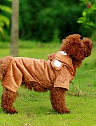 Mäntel / Kapuzenshirts für Hunde Braun Winter S / M / L / XL Polar-Fleece