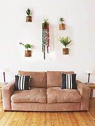 E-HOME® PVC Wall Art Wall Decor, Simulation Plant Wall Decor Set of 5