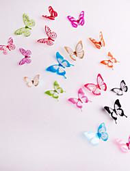 3d stickers muraux 18pcs décoration stickers muraux papillon de mariage