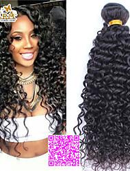 3pcs Lot 5A Unprocessed Malaysian Virgin Hair Curly  Human Hair Extensions Natural Black Hair Weaves