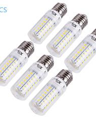 youoklight® 6kpl E14 / E27 15w 1350lm cri>80 3000K / 6000K 56 * smd5730 led valo maissi lamppu (110-120v / 220-240V)