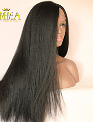Hot Sale Long Yaki Straight Natural Remy Lace Wig Hand Tied Lace Front Wig on Sale EMMA Wigs the Best Wigs Store