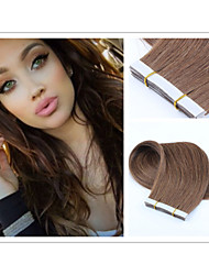 "18""-30"" Tape in Human Hair Extension Brazilian Skin Weft Tape Hair Extensions Adhesive Products"