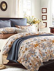 H&C Cotton 800TC Duvet Cover Set 4-Piece Flowers Pattern ML004