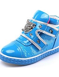 Boy's / Girl's Spring / Fall / Winter Comfort / Closed Toe Leatherette Outdoor / Casual Flat Heel Sequin / Rivet / Buckle / Split Joint