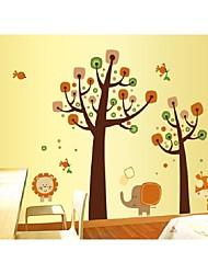 Moda camera per bambini elefanti autoadesivi animali della parete
