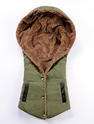 Women's Fashion All Match Hooded Fleece Lining Parka Vest