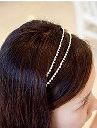 South Korea Imported Hairpin Rhinestone Beaded Head Hoop Decorations Double Row Crystal Hair Band