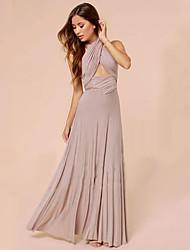 Women's Strapless Pleated Dress , Cotton Maxi Sleeveless