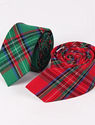 Green Plaid Skinny Tie