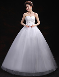 Ball Gown Wedding Dress Floor-length Sweetheart Tulle with Crystal / Embroidered / Sequin