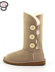 MO Autumn and Winter Fashion Snow Boots Warm Women's Shoes Twinface Sheepskin