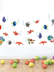 Wall Stickers Wall Decals Style Seabed World Color Cartoon PVC Wall Stickers