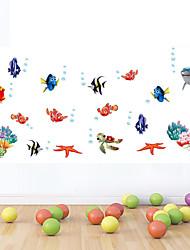 Wandaufkleber Wandtattoos Stil Meeresboden Welt Farbe Karikatur PVC-Wandaufkleber