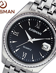 EASMAN Brand Watch Men Black Big Quartz Watches For Men Sapphire Men Fashion Wristwatches Designer Luxury Mens Watches