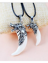 LJD Wolf Tooth Titanium Necklace