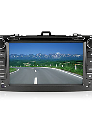 "8 ""2 din carro dvd player para 2007-2013 toyota corolla com bluetooth, gps, tv, fm"