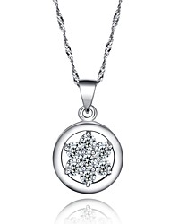 Fine Jewelry Europe and America  Vintage/Party/Work/Casual Sterling Silver Pendant Necklace Cz Body Chain