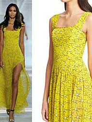 Women's Straps Split Dresses , Chiffon Sexy/Casual Sleeveless YaYiGe