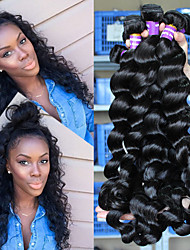 "8""-28"" 5A Brazilian Virgin Hair Loose Wave 3 Pcs/lot Brazilian Human Hair Weave Bundles Loose Curly Wave Hair"
