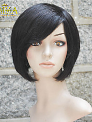 100% Human Hair New Fashion Black Color Short Women's Wigs Full wig  Emma Wig the Best Wigs Store