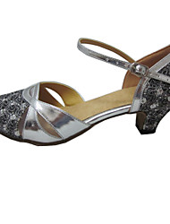 Zapatos de baile (Plata) - Zapatos Estándar Tacón Personalizado