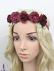Women Fabric Headband , Party Vintage Polyester Flower Headpiece