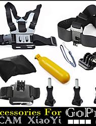 10 in 1 insieme con bobber testa cinghia toracica galleggiante per GoPro eroe 1234 xiaomi fotocamera yi sjcam sportivo