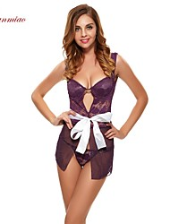 Sexy Women's Lingerie Lace Nightwear Gown Robe Dress Sheer Straps Bandage G-string Bowknot SX-2535