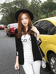 Women's Casual Long Sleeve Jackets , Cotton Medium