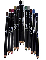 Professional 24 Hour Lasting Waterproof Colorful Liquid Eyeliner Pencil 12 Pcs