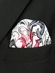 hh19 shlax&ala Paisley grises pañuelos rojos para hombre Corbatas plaza pañuelo de bolsillo