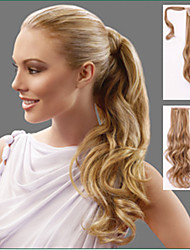 High Quality Long Ponytail Hair Extension Clip in Hair Wavy Hair Chignon