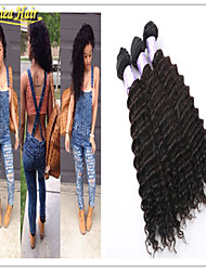 "3pcs/Lot Remy Brazilian Unprocessed Hair Weaves Deep Wave Hair Weft 8""-32""Lengths 100% Virgin Human Hair Extensions"