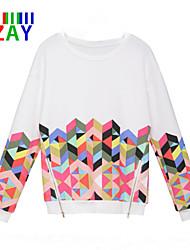 ZAY Women's New Fashion Print Long Sleeve Hoodies with Zipper