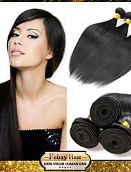 Eurasian Virgin Straight Hair Weaving Natural Black 8-30 inch 1pc/Lot 100G Per Bundle Raw Unprocessed Hair Weft
