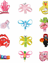 12 Pcs Hair Bows Animal Crown Candy Grossgrain Ribbon Flower Boutique Hair Clips Hairbows Alliger Clip Accessories AC011