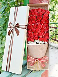 51pcs  Artificial Heart Favor Rose Body Bath Soap Flower Petal Party Gift Wedding Decoration