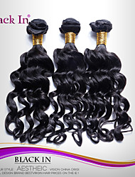 "3 Pcs Lot 12""-30"" Brazilian Nadi Curl Virgin Hair Wefts Jet Black Human Hair Weaves Tangle Free"
