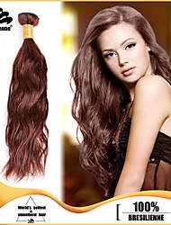 4pcs Brazilian Narural Wave Hair Bundles Weaves Chocolate Brown 100% Unprocessed Brazilian Human Hair Weft