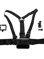 Chest Body Strap + Vertical Surface J-Hook Buckle + Protective Side Frame + Screw for Xiaomi Yi
