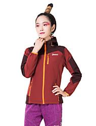 DEEKO Women's Outdoor Soft Shell Warm Windproof Fleece Jacket D403W
