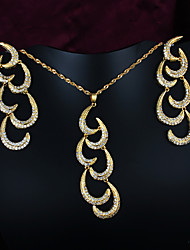 Women Vintage/Party/Casual Gold Plated Necklace/Earrings Sets