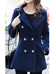 Moon Sunday Women's All Match  Double-Breasted Tweed Coat