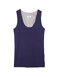 Women's Solid Gray Vest , Deep U Sleeveless