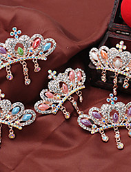 Women Rhinestone/Alloy Fashion Crown Barrette With Casual/Party Headpiece