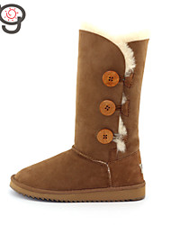 MO Boots Keep Warm Women's Twinface Sheepskin Suede lined Boots Winter Boots Classic Snow